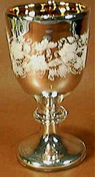 silvered glass goblet