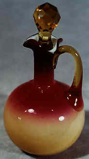 Peachblow glass by Hobbs Brockunier of Wheeling