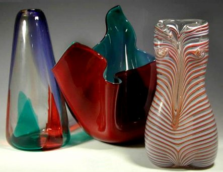 Venini glass designed by Fulvio Bianconi