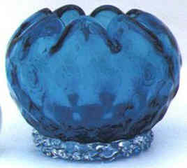 Italian rose bowl in blue