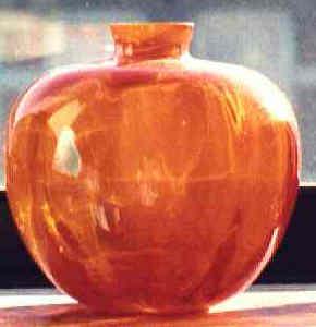 """Orange Apple"" Leerdam vase by Copier"