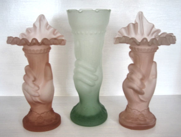 Frosted Hand Vases