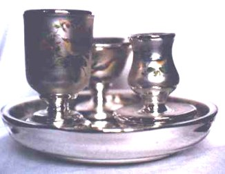 silvered glass gobletS