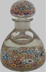 Ysart glass paperweight ink bottle