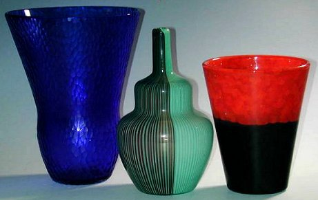 Carlo Scarpa designs for Venini glass